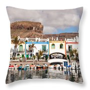 Buildings At The Waterfront, Puerto De Throw Pillow