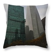 Buildings Behind Bryant Park Throw Pillow