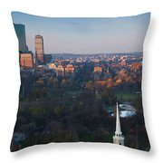 Buildings In A City, Boston Common Throw Pillow
