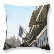 Buildings In A City, Four Points By Throw Pillow