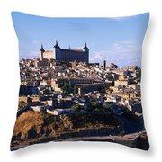 Buildings In A City, Toledo, Toledo Throw Pillow