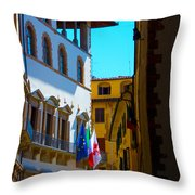 Buildings In Florence Italy Throw Pillow
