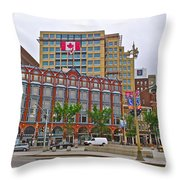 Buildings Near War Memoriall In Ottawa-on Throw Pillow