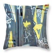 Bulgarian Graffiti Throw Pillow