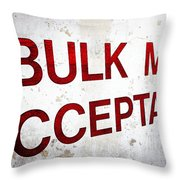 Bulk Mail Acceptance Throw Pillow