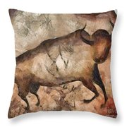 bull a la Altamira Throw Pillow