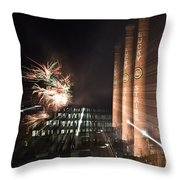 Bull Durham Fireworks Zoom Throw Pillow