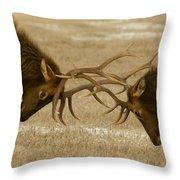 Bull Elk In The Rut   #8924 Throw Pillow