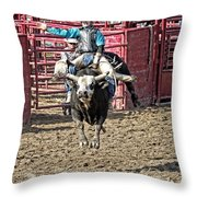 Bull In The Air Throw Pillow