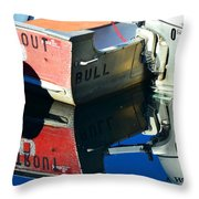 Bull In The Water Throw Pillow