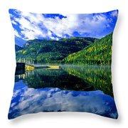 Bull Lake In Fall Throw Pillow