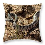 Bull Snake Throw Pillow