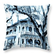 Bull Street House Savannah Ga Throw Pillow