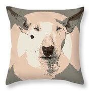 Bull Terrier Graphic 1 Throw Pillow