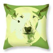 Bull Terrier Graphic 2 Throw Pillow