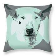 Bull Terrier Graphic 3 Throw Pillow