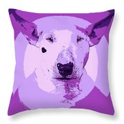 Bull Terrier Graphic 5 Throw Pillow