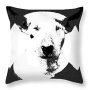 Bull Terrier Graphic 6 Throw Pillow