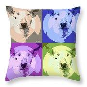 Bull Terrier Pop Art Throw Pillow