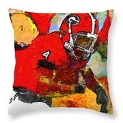Bulldog Back Throw Pillow