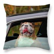 Bulldog Bliss Throw Pillow