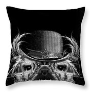 Mr. Bulldog Throw Pillow by Jarno Lahti