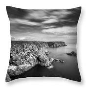 Bullers Of Buchan Cliffs Throw Pillow