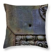 Bullet Holes At The Pantheon Throw Pillow