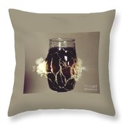 Bullet Piercing Glass Of Soda Throw Pillow