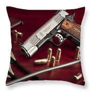Bullets And Broadheads Throw Pillow
