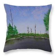 Bullfrog Reservoir Throw Pillow