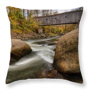 Bulls Bridge Autumn Square Throw Pillow
