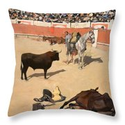 Bulls. Dead Horses Throw Pillow