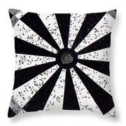 Bull's Eye - Bw01 Throw Pillow