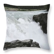 Bulls Horses Rock And Water Throw Pillow