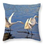 Bullying Egret Style Throw Pillow