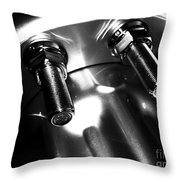 Bults Black  White Throw Pillow