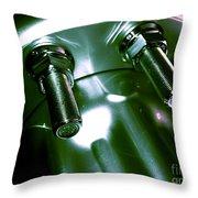 Bults Green Throw Pillow