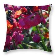 Bumble Bee Among The Wallflowers IIi Throw Pillow
