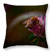 Bumble Bee Tattered Wings Art 3 Throw Pillow