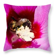 Bumble Bee Vi Throw Pillow