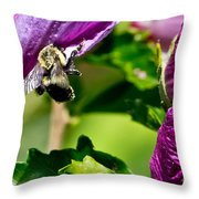 Bumble Bee Vii Throw Pillow
