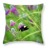 Bumbling Around Throw Pillow