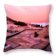 Bumpass Hell Sunset Throw Pillow