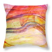 Bumped Wine Barrel Throw Pillow