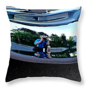 Bumper Selfie Throw Pillow