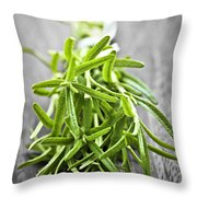 Bunch Of Fresh Rosemary Throw Pillow