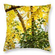 Bunch Of Green Throw Pillow