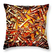 Bunch Of Screws 4 - Digital Effect Throw Pillow by Debbie Portwood