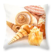 Bunch Of Shells Throw Pillow by Jean Noren